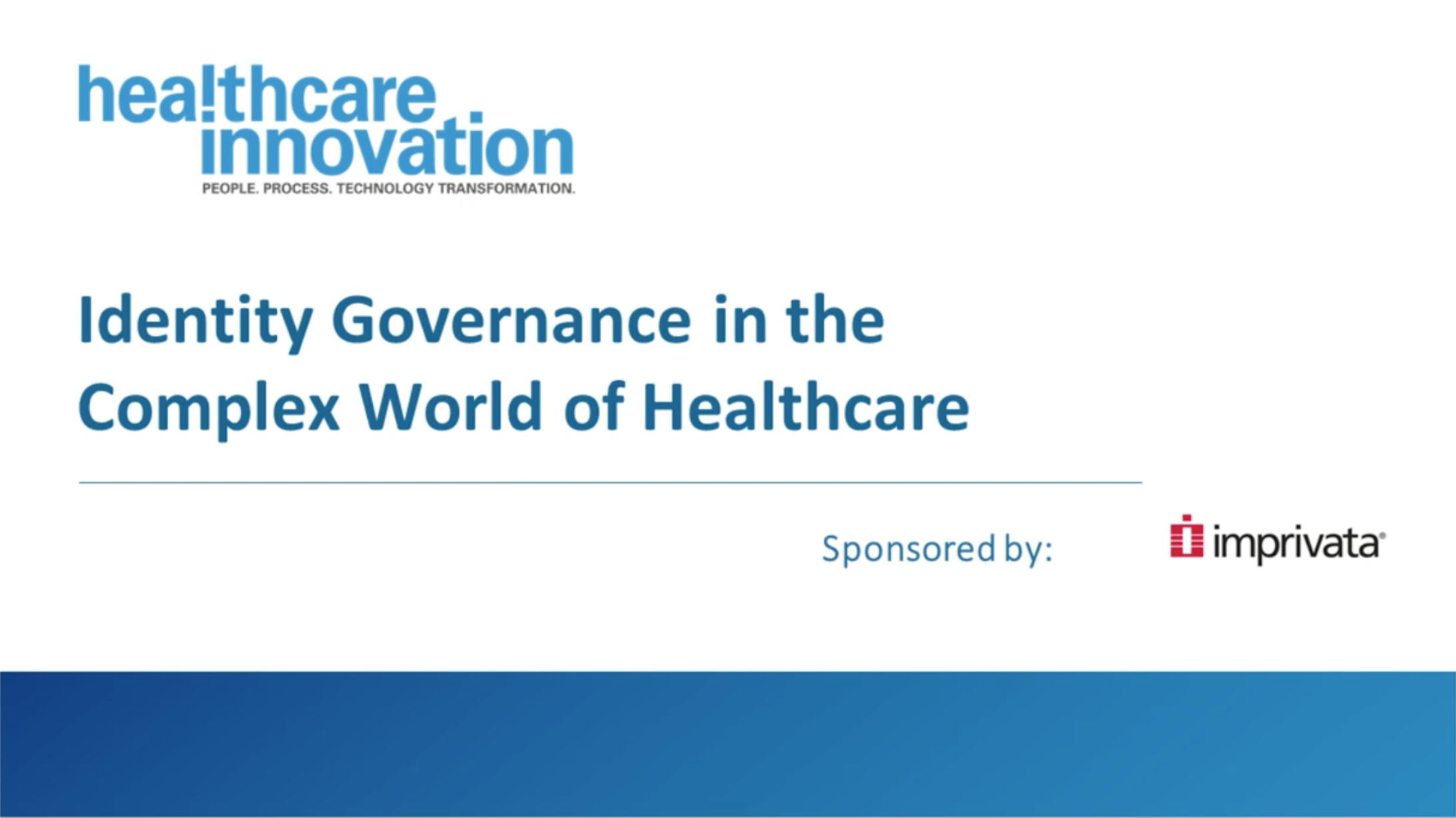 Identity Governance in the Complex World of Healthcare