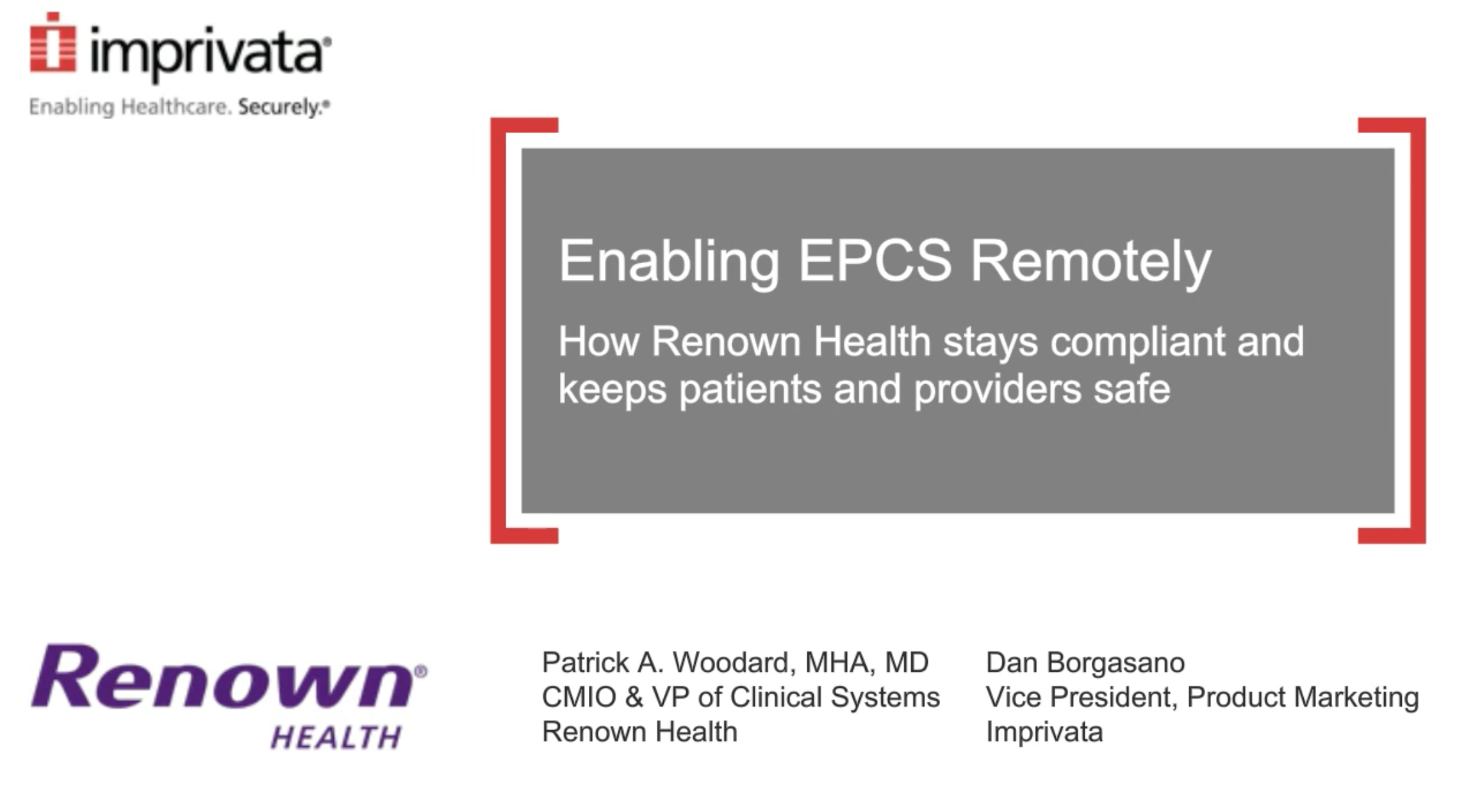 Enabling EPCS remotely: How Renown Health stays compliant and keeps patients and providers safe