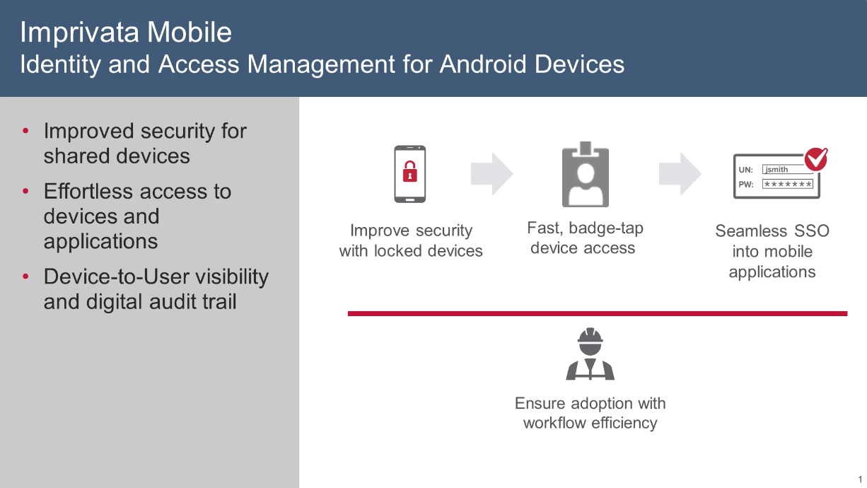 Imprivata Mobile - Identity and Access Management for Android Devices