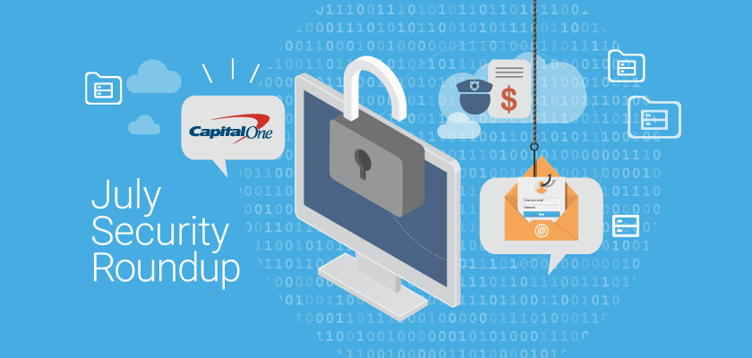 Monthly Cloud Security Roundup The Capital One Data Breach, CCPA's Influence on US Privacy Laws, and More
