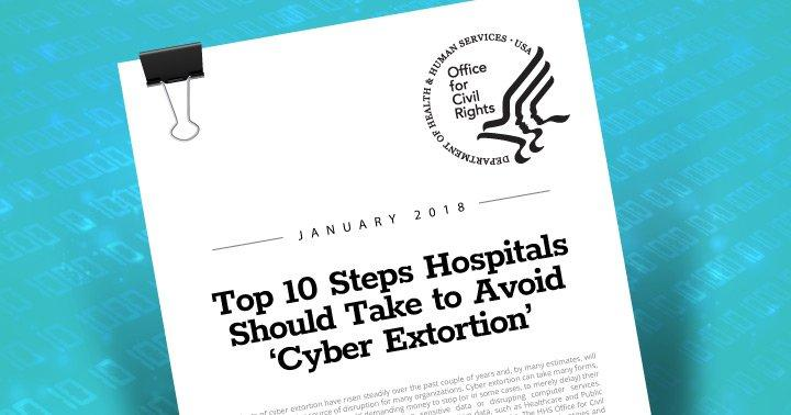 HHS OCR: Avoid Falling Victim to 'Cyber Extortion'