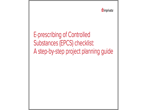 Eprescribing of Controlled Substances (EPCS) checklist A stepbYstep project planning guide WP.png