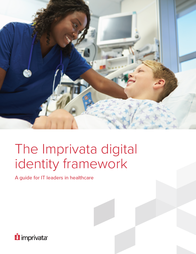 "Picture of front page of ""The Imprivata digital identity framework"" whitepaper"